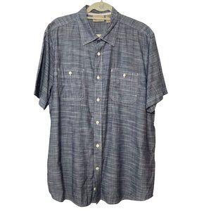 Roebuck & Co Gray Button Up Short Sleeve Shirt XL